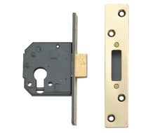 """3120 High Security Deadlock case 3"""" (76mm)-Polished Brass"""