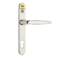 Yale Antimicrobial UPVC Inline Lever/Lever Long Backplate Door Handle - Chrome