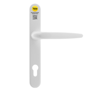 Yale Antimicrobial UPVC Inline Lever/Lever Long Backplate Door Handle - White