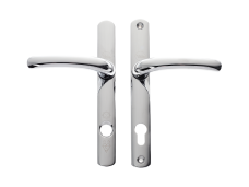TS007 2* Platinum Security Door Handles 92/215mm - CHROME