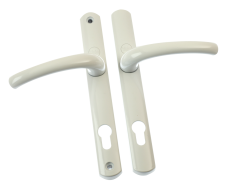 Superior Long Backplate Handles - WHITE