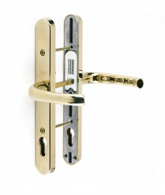 Universal Replacement Door Handle - 92/Adjustable Fixing Points - BRASS