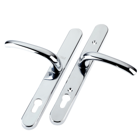 Universal Replacement Door Handle - 92/Adjustable Fixing Points - CHROME
