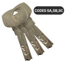 Yale DWS Spare Key YL-CYL-KC1A-03 (Set of 3)