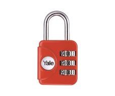 Yale Combination Padlock in Red