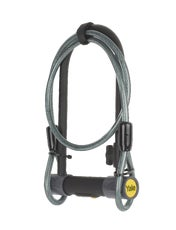 High Security Defendor U Bike Lock with Cable (Sold Secure Silver)