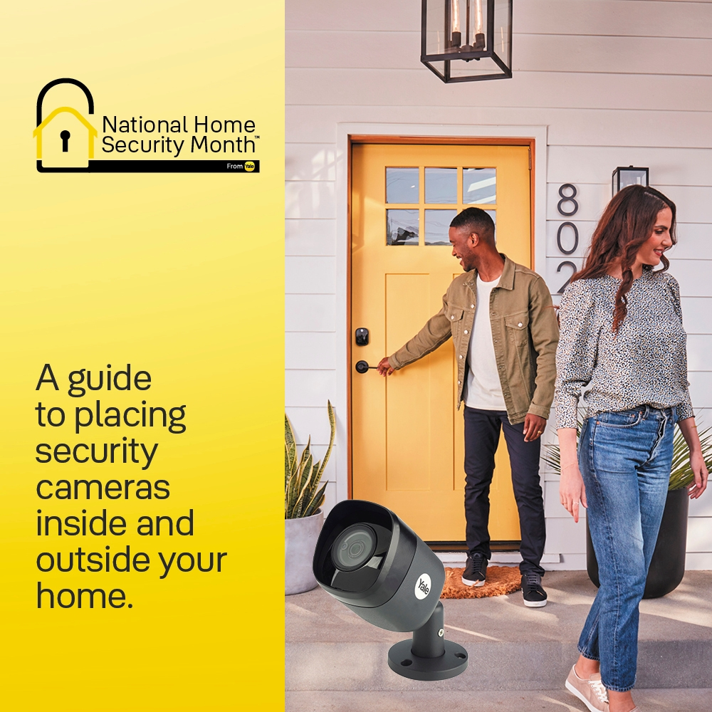 A guide to placing security cameras  inside and outside your home