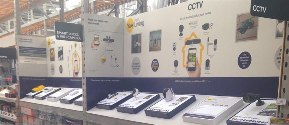 Yale showcases new Smart Living point of sale in B&Q stores