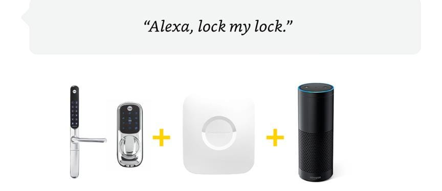 Alexa lock my lock  Yale partners with Amazon Alexa via Samsung SmartThings